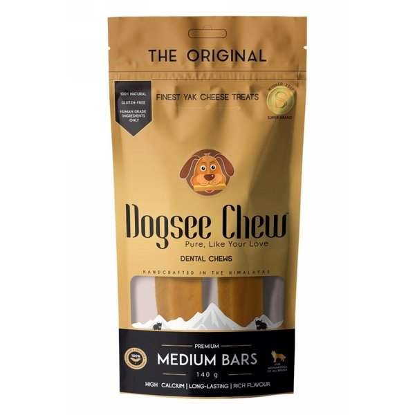 Dogsee Chew Medium Bars 140GR