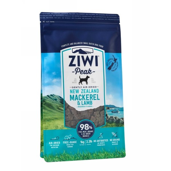 Ziwi PEAK DOG GENTLY AIR-DRIED Mackerel & Lamb 1 kg.