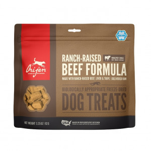 Orijen Freeze-Dried Treats Dog Ranch-Raised Beef 92 gr.