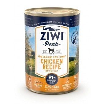 Ziwi PEAK DOG CANS Chicken 390 gr. per 12Blikken